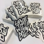 Glossy, laser cut stickers