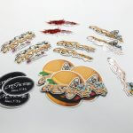 Transparent and satin matte stickers