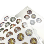 Custom round transparent labels