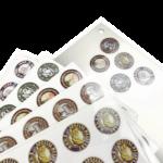 Custom round transparent labels