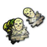 Gold vinyl die cut stickers