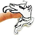 Transparent dog stickers