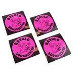 Custom pink flourescent vinyl stickers