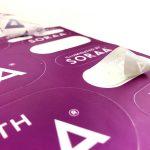 Transparent satin matte stickers