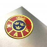 Custom gold Epoxy/Dome stickers