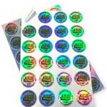 Holographic round stickers
