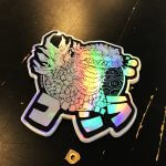 Holographic dragon sticker