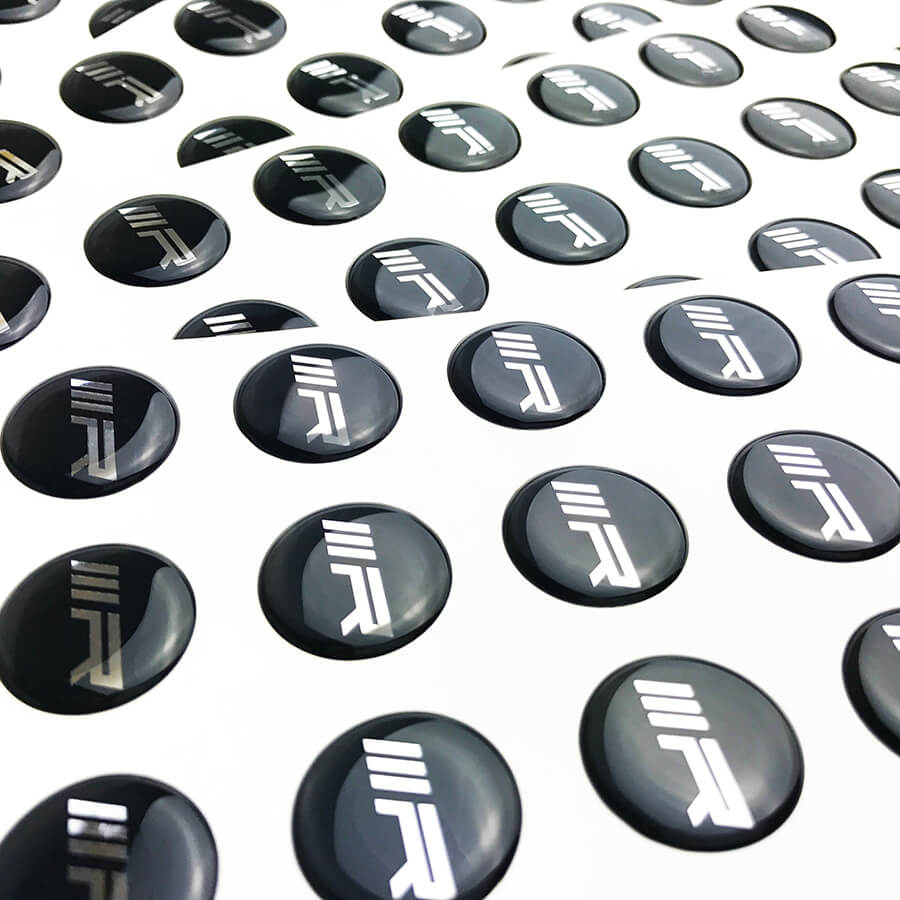 Chrome Silver 3d Epoxy Stickers 183 Stickersthatstick Co Uk