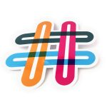 Hashtag shape stickers