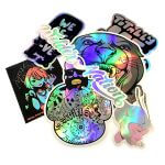 Mixed custom holographic stickers