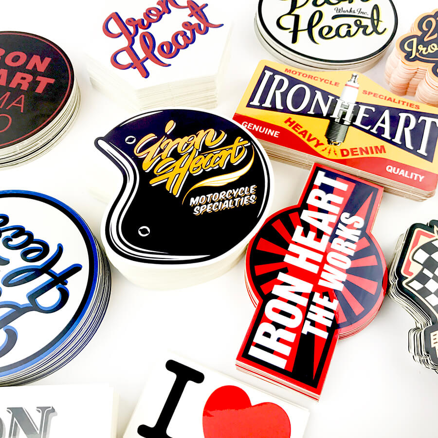 Iron heart custom stickers