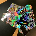Mixed bespoke holographic stickers