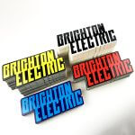 Brighton Electric custom logo stickers