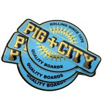 Pig City gold mirror vinyl stickers