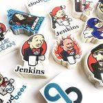 Jenkins mixed satin matte custom stickers