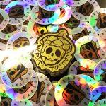 Custom prismatic holographic stickers
