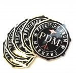 Brushed alloy stickers for PDM Precision Drum Markers